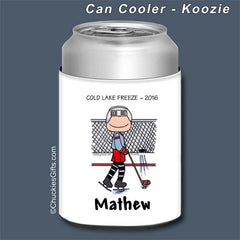 Hockey Can Cooler Male - Personalized 2180