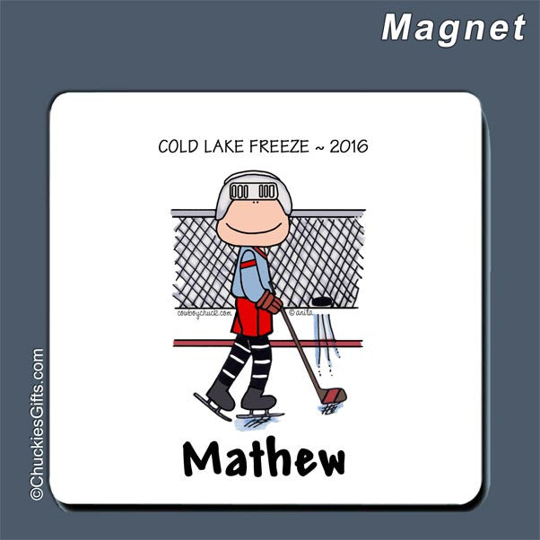 Hockey Magnet Male - Personalized 2180