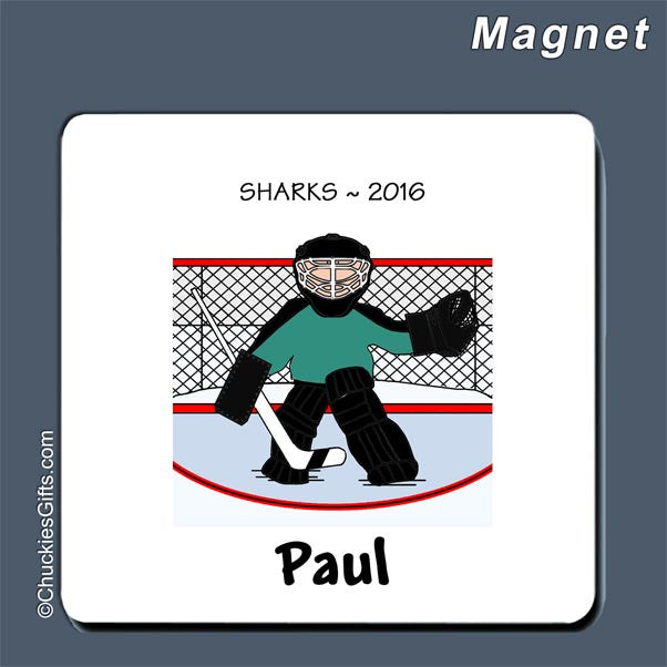 Hockey Goalie Magnet Male - Personalized 2181
