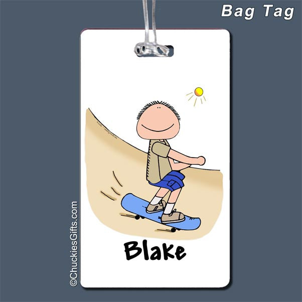 Skateboarder Bag Tag   | Value Collection