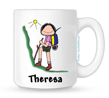 Hiker Mug Female Personalized