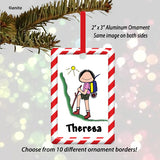 Hiker Ornament Female - Personalized