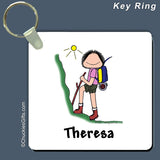 Hiker Key Ring Female Personalized