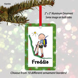 Hiker Ornament Male - Personalized