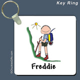 Hiker Key Ring Male Personalized