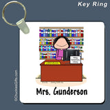 Librarian Key Ring Female Personalized