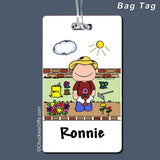 Gardening Bag Tag Male Personalized