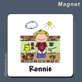 Gardening Magnet Male Personalized
