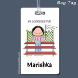 #1 Fan Bag Tag Female - Personalized