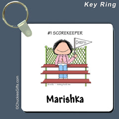 #1 Fan Key Ring Female - Personalized