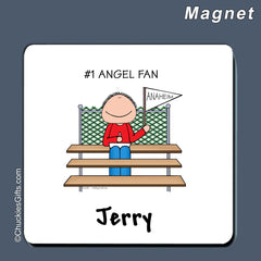 #1 Fan Magnet Male - Personalized