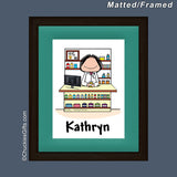 Pharmacist Mat/Frame Female Personalized