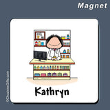 Pharmacist Magnet Female Personalized