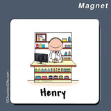 Pharmacist Magnet Male Personalized