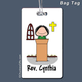 Minister Bag Tag Female Personalized