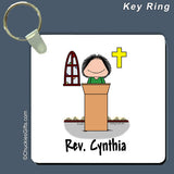 Minister Key Ring Female Personalized