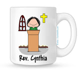 Minister Mug Female - Personalized