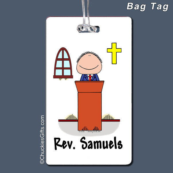 Minister Bag Tag Male Personalized