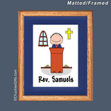 Minister Mat/Frame Male Personalized