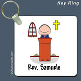 Minister Key Ring Male Personalized