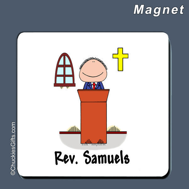 Minister Magnet Male Personalized