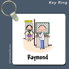 X-Ray Technician Key Ring Male Personalized