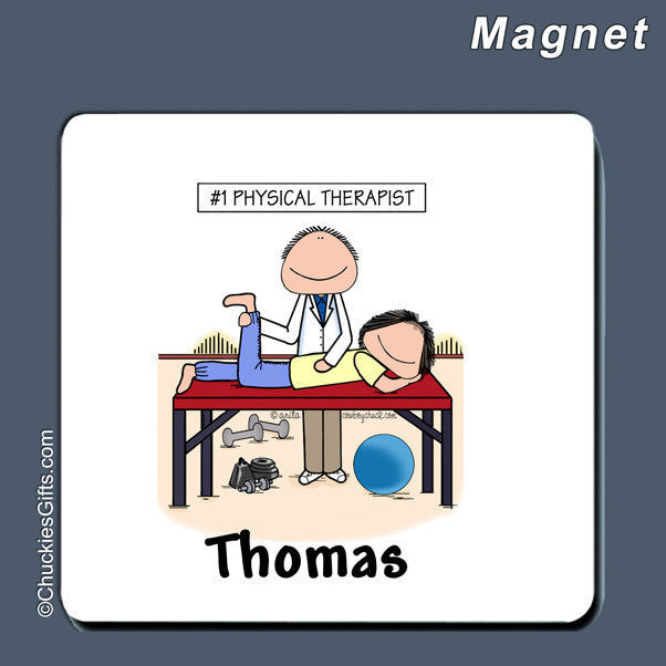 Physical Therapist Magnet Male Personalized