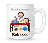 Personalized Physical Therapist Mug Female