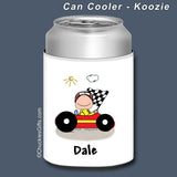 Race Car Driver Can Cooler Male Personalized