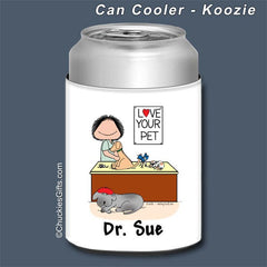Veterinarian Can Cooler Female - Personalized 2237