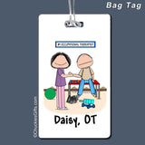 Occupational Therapist Bag Tag Female Personalized