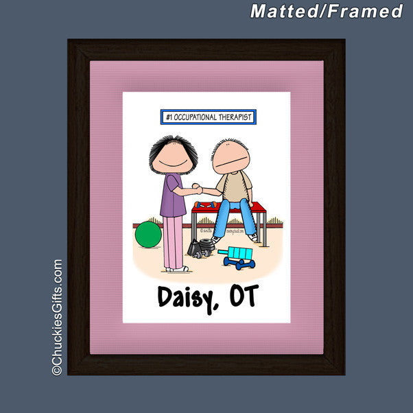 Occupational Therapist Mat/Frame Female Personalized