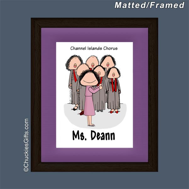 Choir Director Mat/Frame Female - Personalized 2243