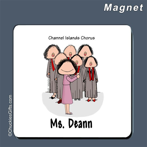 Choir Director Magnet Female - Personalized 2243