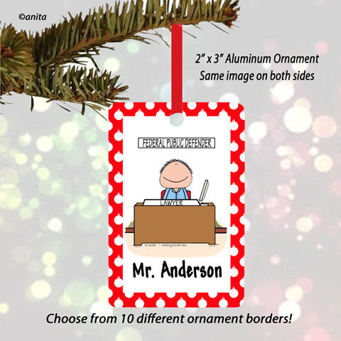 Office Ornament Male - Personalized