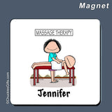 Massage Therapist Magnet Female Personalized