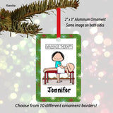 Massage Therapist Ornament Female - Personalized