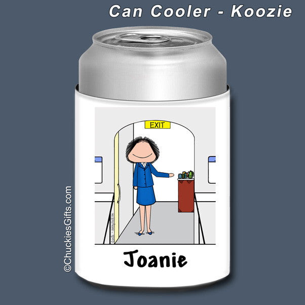 Flight Attendant Can Cooler Female - Personalized 2269