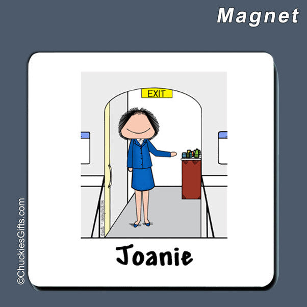 Flight Attendant Magnet Female - Personalized 2269