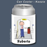 Flight Attendant Can Cooler Male - Personalized 2270