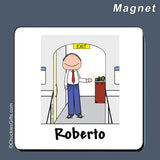 Flight Attendant Magnet Male - Personalized 2270