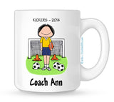 Soccer Coach Mug Female - Personalized
