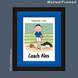 Baseball Coach Mat/Frame Male Personalized