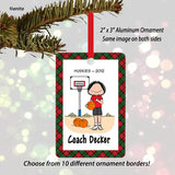 Basketball Coach Ornament Female - Personalized