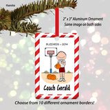 Basketball Coach Ornament Male - Personalized