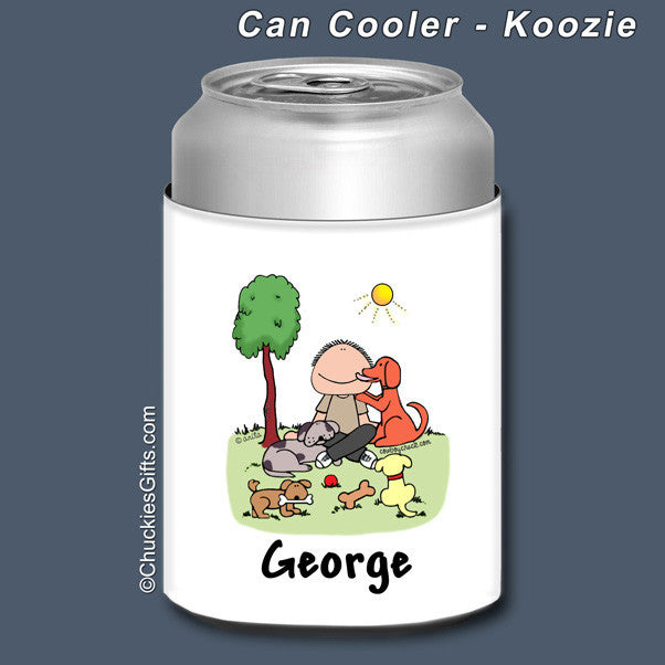 Dog Lover Can Cooler Male Personalized