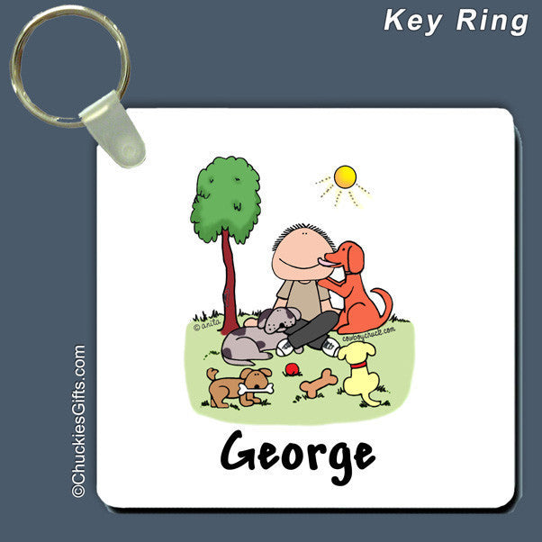 Dog Lover Key Ring Male Personalized