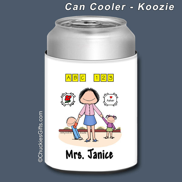 Day Care PreSchool Can Cooler Female Personalized