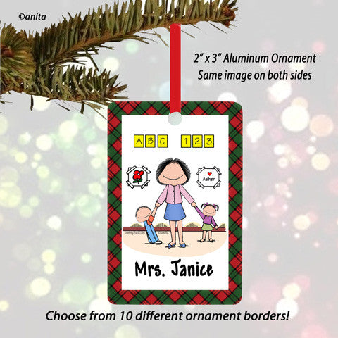 Day Care Preschool Ornament Female - Personalized