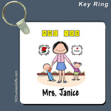Day Care PreSchool Key Ring Female Personalized